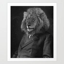 Leo The Lion Man Art Print