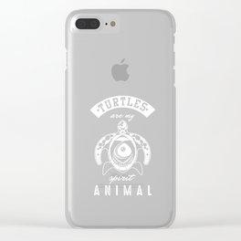 Turtles Are My Spirit Animals Turquoise Wildlife Ocean Aquatic Animals Gift Clear iPhone Case