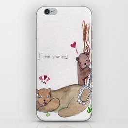 I trap your ass iPhone Skin