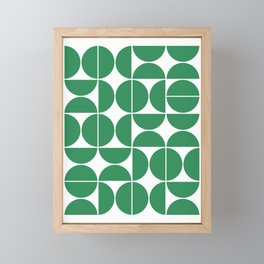 Mid Century Modern Geometric 04 Green Framed Mini Art Print