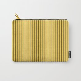 Primrose Yellow and Black Stripes Carry-All Pouch