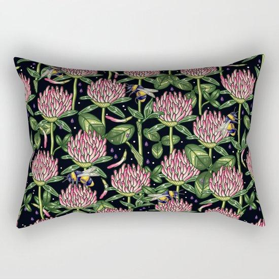 night work in the garden Rectangular Pillow