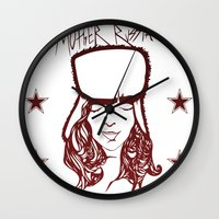 russia Wall Clocks featuring Mother Russia by Hoolianne