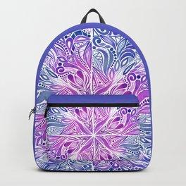 Triangles Mandala - Indigo Backpack