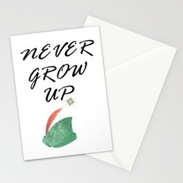 Never Grow Up - I Stationery Cards