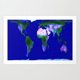 World Map : Gall Peters Art Print