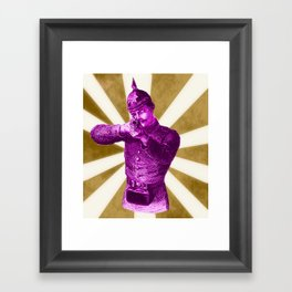 Pink Soldier Framed Art Print