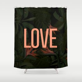 LOVE in the Forest Shower Curtain