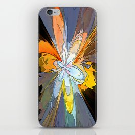 Gold Flower Abstract iPhone Skin