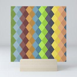 Retro rhombs Mini Art Print