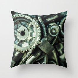 Machine Part BNW Abstract II Art Throw Pillow