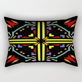 jigsaw black background Rectangular Pillow