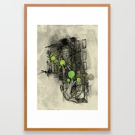 Sketched City Street Framed Art Print