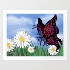 Betsy Butterfly Art Print