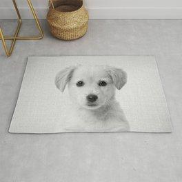 Golden Retriever Puppy - Black & White Rug