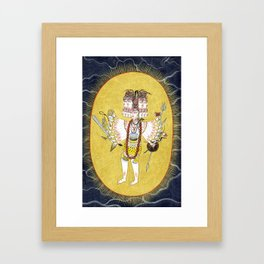The Cosmic form of Shiva with a halo of light Framed Art Print