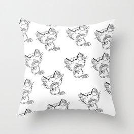 Rage Cat Throw Pillow