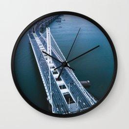 Oakland - San Francisco Bay Bridge Wall Clock