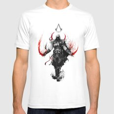 assassin's creed ezio X-LARGE White Mens Fitted Tee