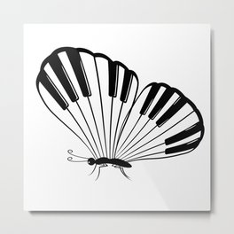 Musical Butterfly Metal Print