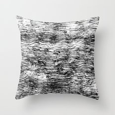 Black Pattern#4 Throw Pillow