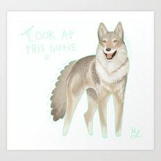 czechoslovakian wolfdog Art Print