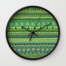 Yzor pattern 009 green-blue summer Wall Clock