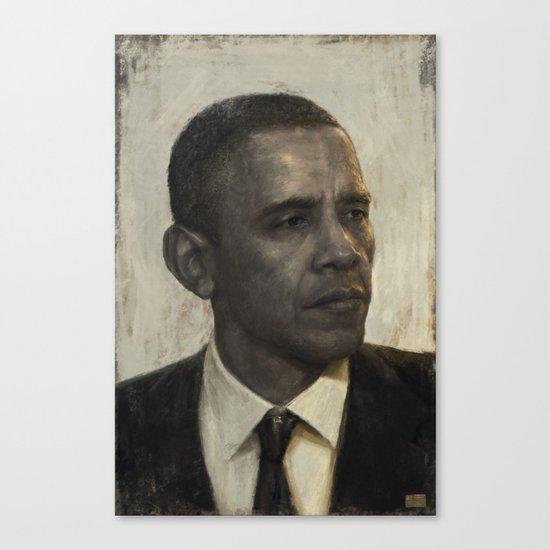 """""""Golden Age"""" - Portrait of President Barack Obama Canvas Print"""