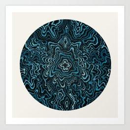 Intimate Portrait in Blue Art Print