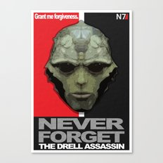 NEVER FORGET - Thane Krios - Mass Effect Canvas Print