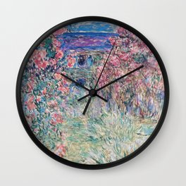 The House among the Roses by Claude Monet Wall Clock