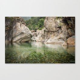 Valle Verzasca Canvas Print