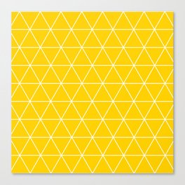 Triangle yellow-white geometric pattern Canvas Print