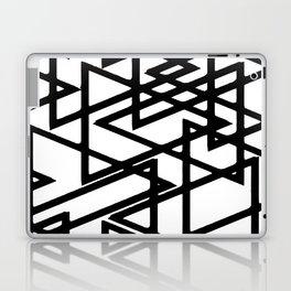Interlocking Black Triangles Artistic Design Laptop & iPad Skin