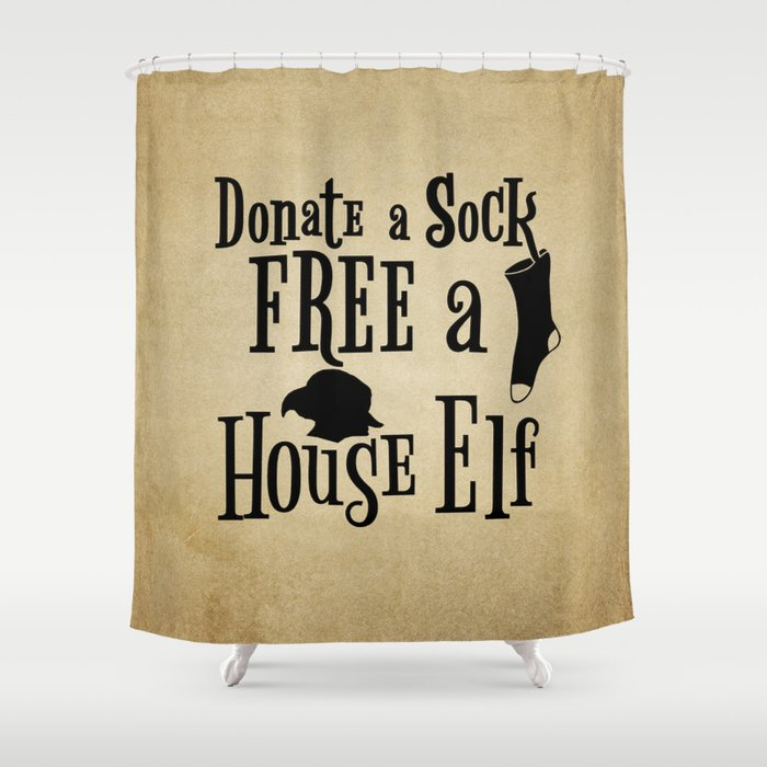 Donate A Sock FREE House Elf Shower Curtain
