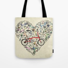 I Love Brompton Bikes Tote Bag