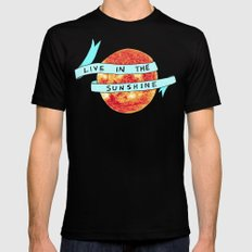 Live in the Sunshine Mens Fitted Tee MEDIUM Black