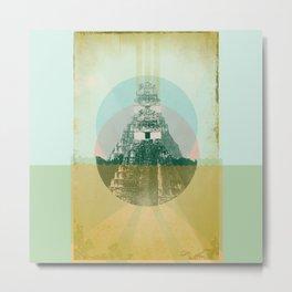 MAYAN TEMPLE Metal Print