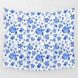 Ocean Life-Blue Palette Wall Tapestry
