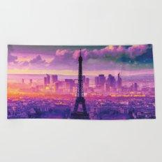 Beautiful Paris Beach Towel