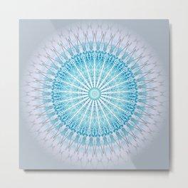 Turquoise Mandala Medallion Metal Print
