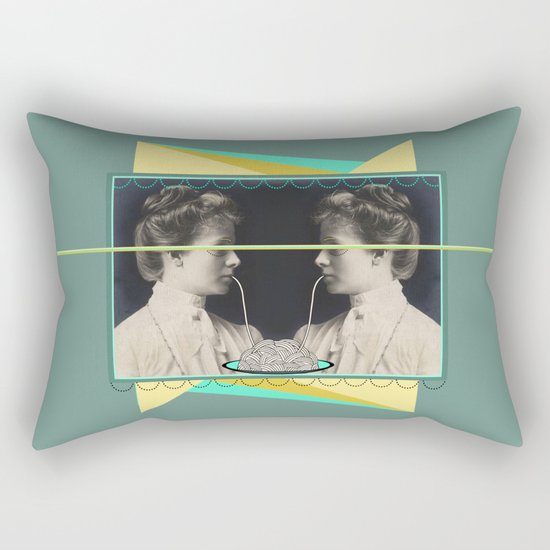 Ladies without the Tramp  Rectangular Pillow