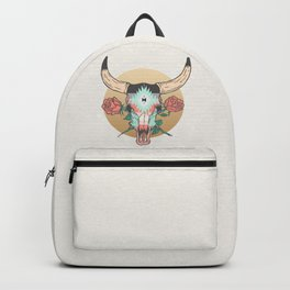 cráneo de vaca Backpack