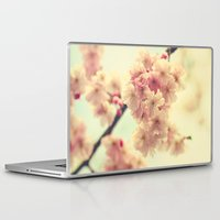 cherry blossoms Laptop & iPad Skins featuring cherry blossoms by Sylvia Cook Photography