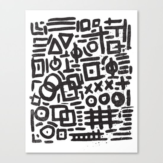 ABSTRACT 4 - BLACK & WHITE Canvas Print