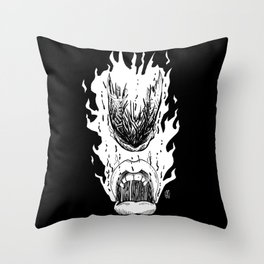 InkLATER: Scorched Throw Pillow