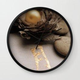 golden character and golden ball Wall Clock