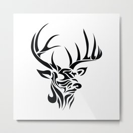 Tribal - Deer Metal Print