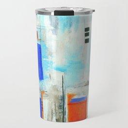 Nautical Intentions, Abstract Art Painting Travel Mug