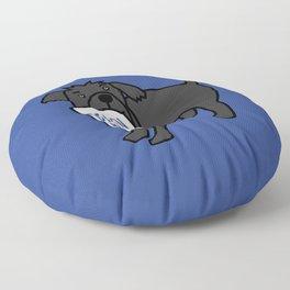 Cute Dog with Biden Harris Sign Floor Pillow